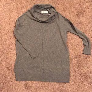 Gray Cowl Sweater